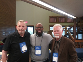 Photo with authors MK Gantt, JP Robinson  and Bill Watkins at the Estes Park conference center