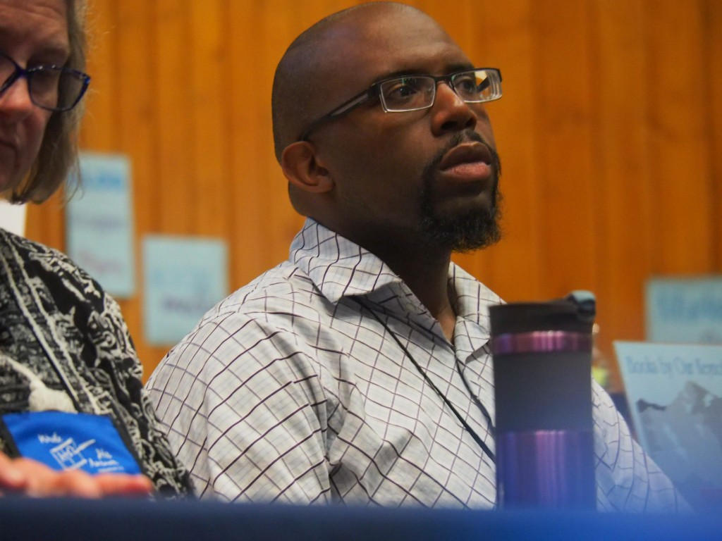 Author-Educator JP Robinson in panel discussion