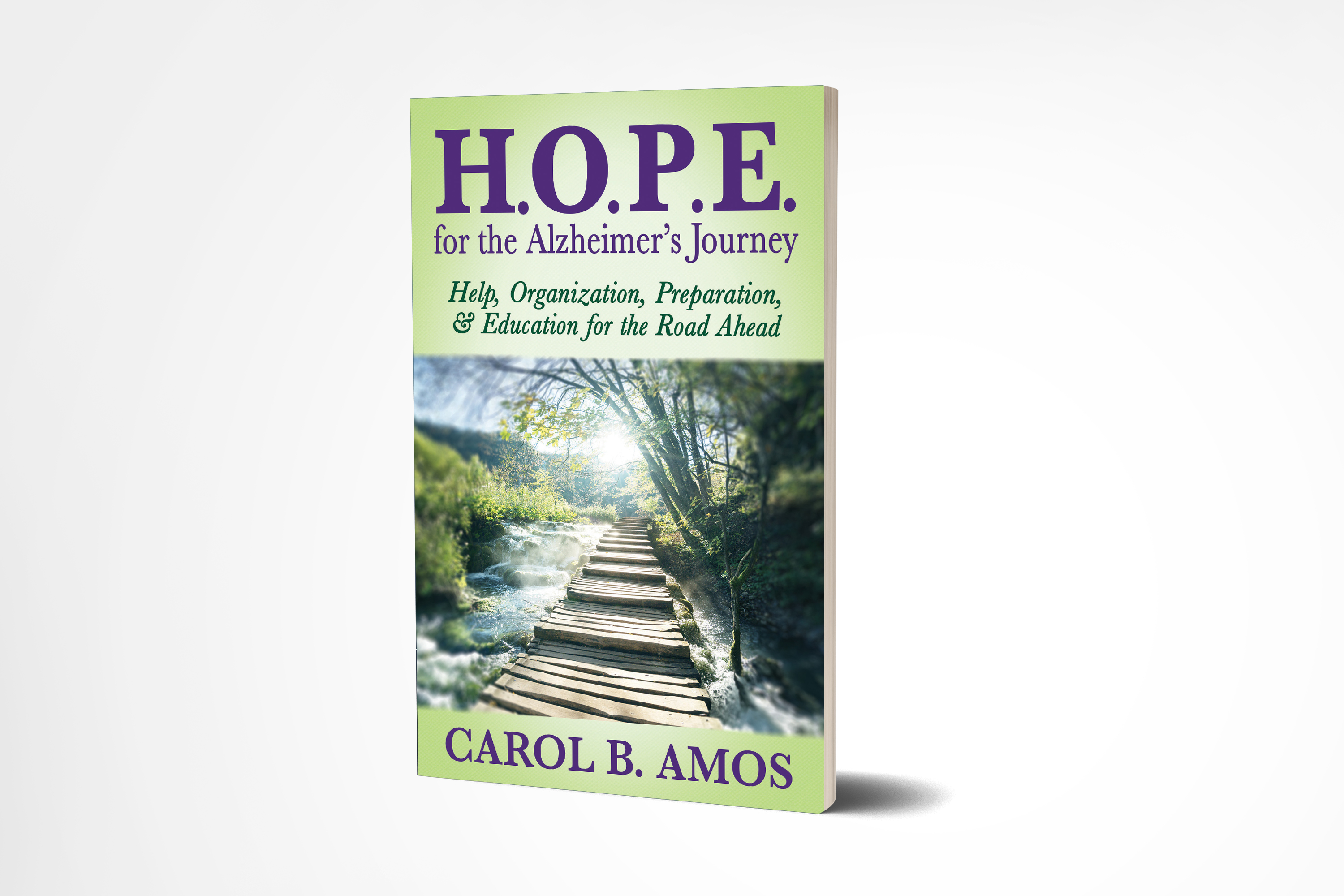 Cover for author Carol Amos's book HOPE for Alzheimer's Journey