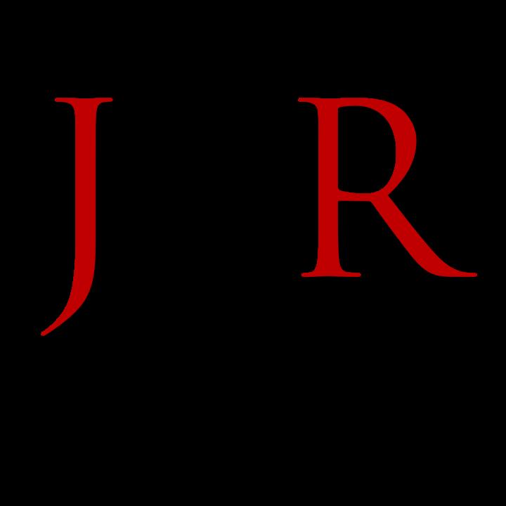 JP Robinson's logo J P R in red black