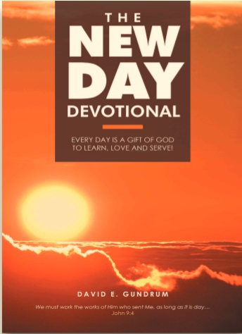 Cover for author David Gundrum's book The New Day devotional